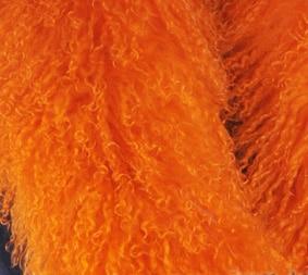 CX-A-52P из натуральной монгольской Овцы меховой воротник из натурального меха ягненка шарф шарфы накидка дизайн для леди - Цвет: Оранжевый