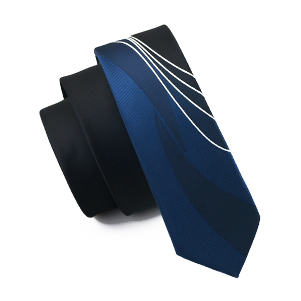 5.5cm Wide Hi-Tie Design Slim Ties Narrow Gravata Blue Skinny Tie Silk Jacquard Woven Neckties For Men Wedding Party Groom