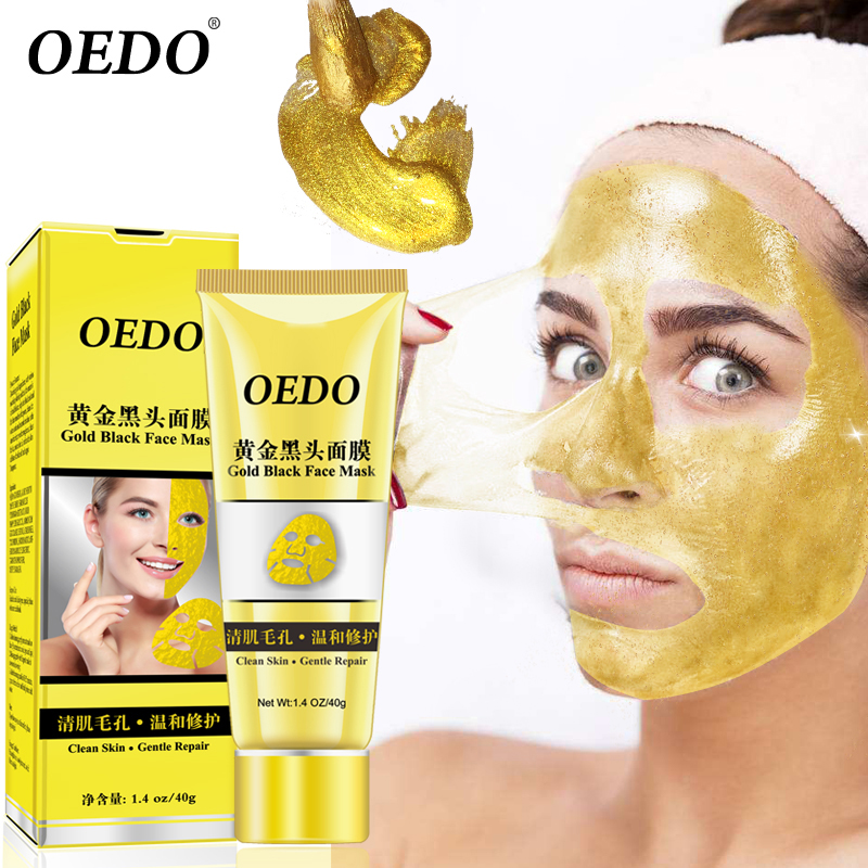OEDO Gold Remove Blackhead Mask Shrink Pore Improve Rough Skin Acne Shills Blackhead Remover Mask Facial Moisturizing Cream