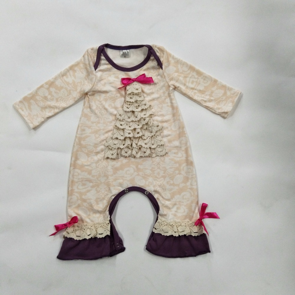 Christmas Wholesale Baby Rompers Newborn Fall Winter Long Sleeve Cotton Print Clothes Infant Children Sets Jumpsuits R013