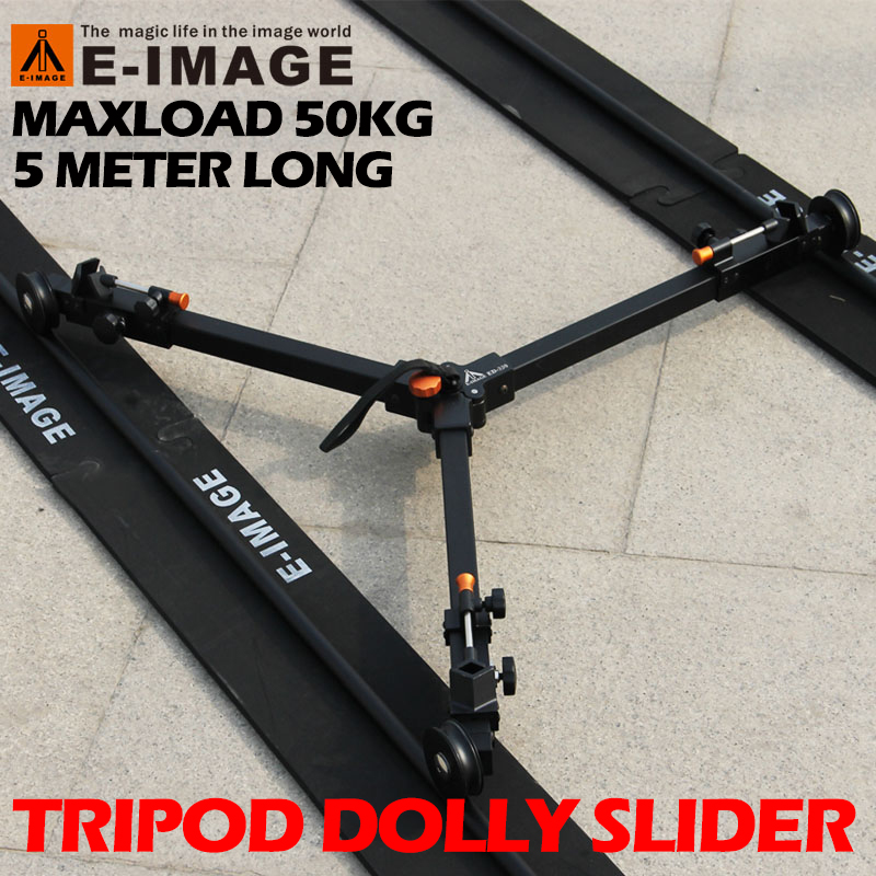 50kg Payload 5m Portable Travle Aluminum Professional Camera Video Slider Tripod Dolly Track Rail Tracking Wheels Moving Car adearstudio stands tripod truckings 22mm newest camera tripod dolly 2016 3 wheel moving dolly cp50 tripod wheel for camera