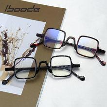 Iboode Retro Anti Blue Rays okulary do czytania Unisex Ultralight anti-zmęczenie okulary komputerowe kobiety mężczyźni kwadratowe okulary starczowzroczne