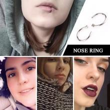 2 Pcs Fake Titanium Nose Ring Piercing