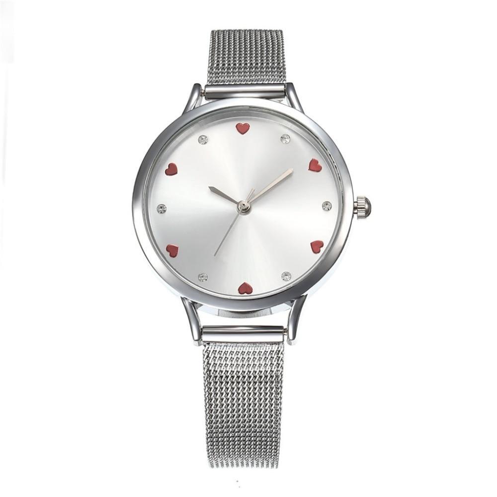 Fashion Women Watches Best Sell Simple Rhinestone Dial Ladies Watch Gift Clock Bracelet Watch Quartz WristWatches Kol Saati #B