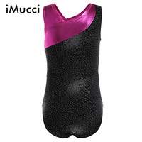 IMucci Girls Ballet Dress Long Sleeves Athletic Dance Leotards Dress Ballet Gymnastics Leotards Acrobatics For Kids