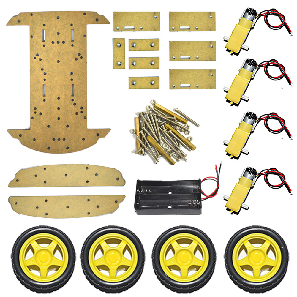 2 Layer 4WD Smart Car Chassis Four Wheel Drive Smart Car Kit For Arduino Chassis DIY Kit