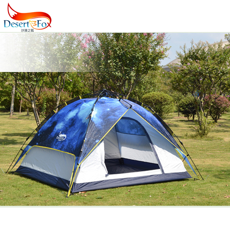 Folding Bed Automatic : Desertfox person camping rainproof automatic tent