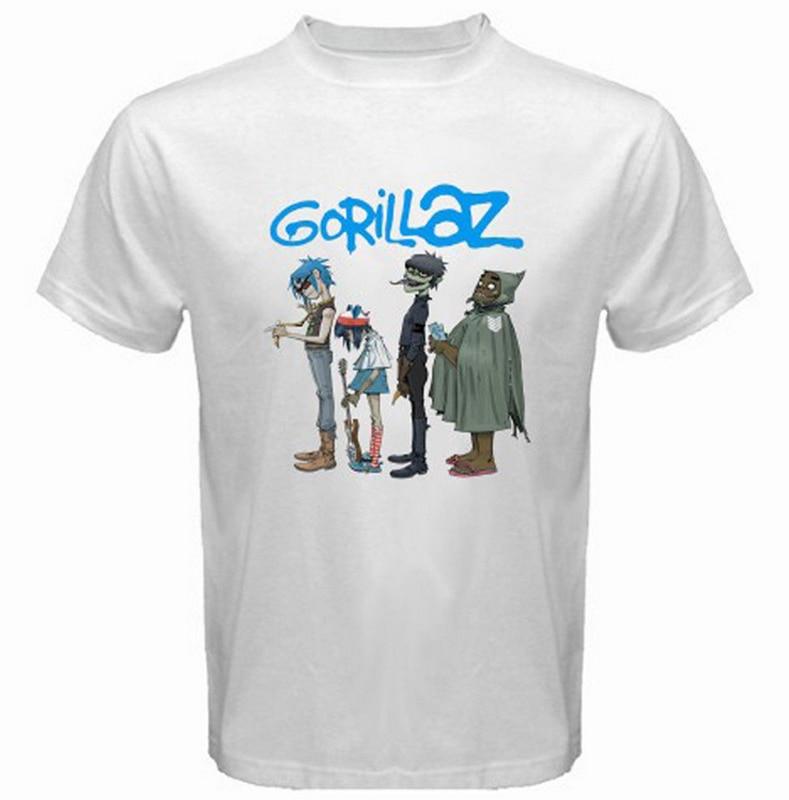 Banda de Rock Rap Hip Hop hombres blanco negro gráfico Mens Casual algodón  verano estilo Plus Size camisas en Camisetas de La ropa de los hombres en  ... 9a46ce7aa0f