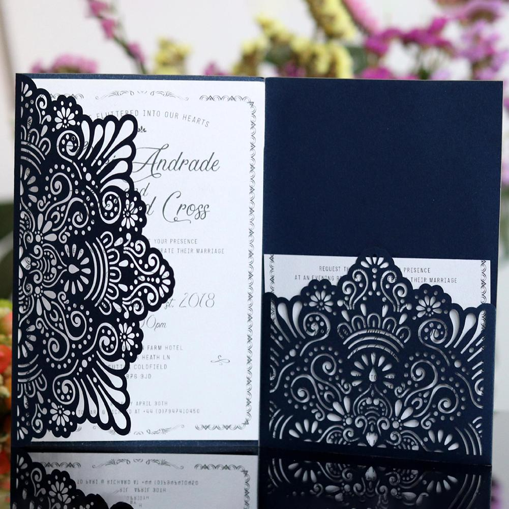 Wedding Invitations Business: 2018 10PCS European Style Lace Wedding Invitations Cards