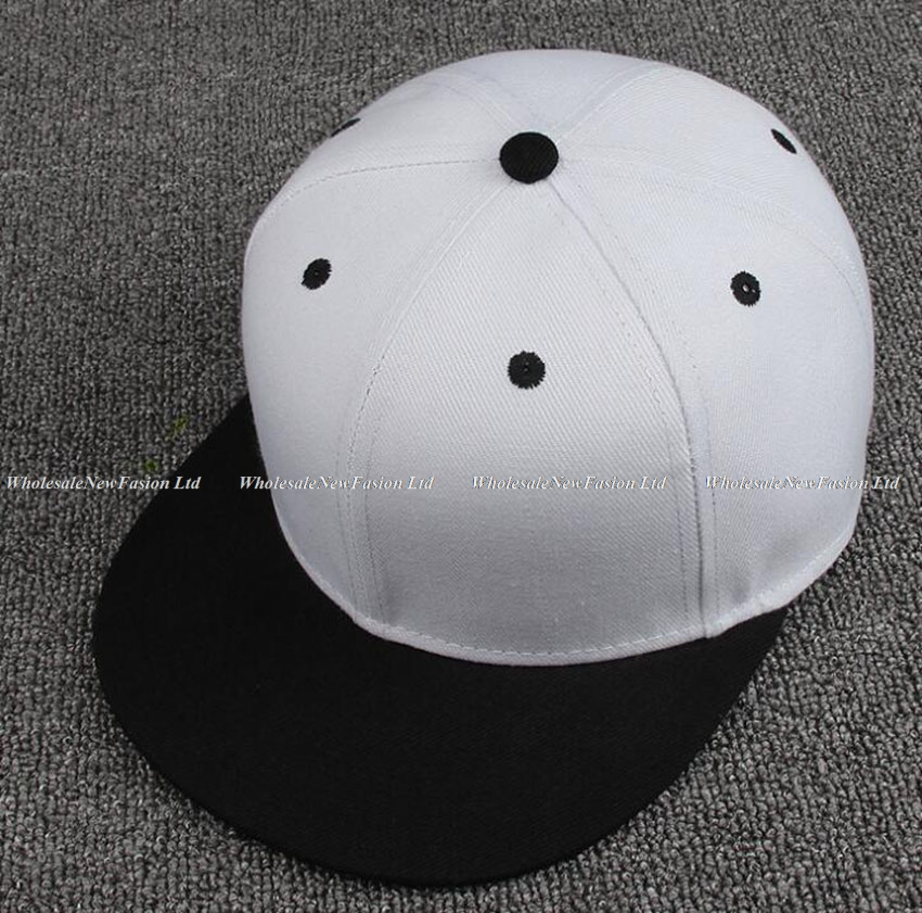 38229f4f Wholesale 12pcs Cool Two Tone Flat Brim Snapback Hats Men Blank Hat ...