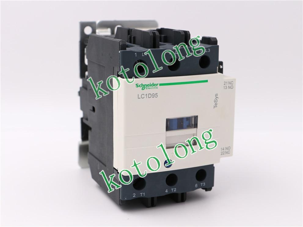 AC Contactor LC1D95 LC1-D95 LC1D95B7 24V LC1D95D7 42V LC1D95E7 48V LC1D95F7 110V ac contactor sc n5px