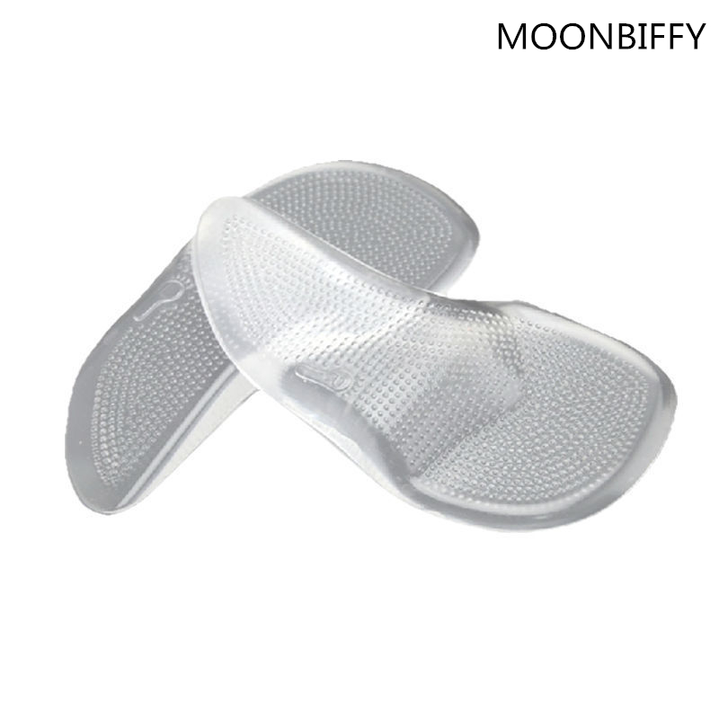 New Women Man Gel Silicone Arch Support Orthopedic Orthotic Flat Foot Insole #FM0799 2016 1 pair large size orthotic arch support massaging silicone anti slip gel soft sport shoe insole pad for man women