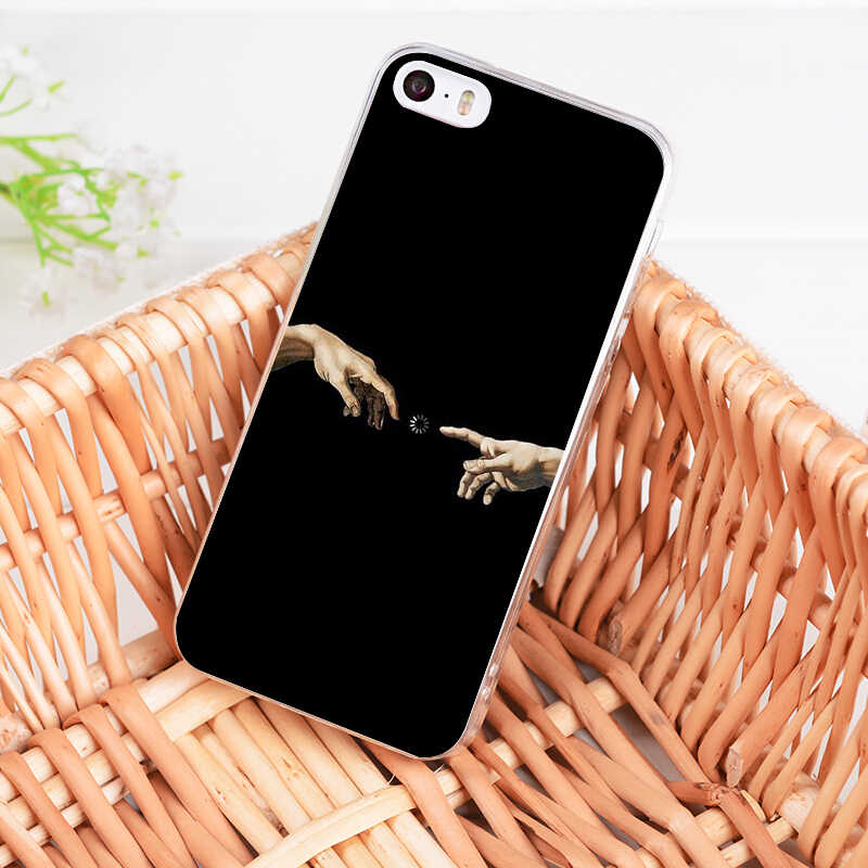 MaiYaCa Vintage Art David Statue illustration Transparent Phone Cover Case for Apple iPhone 8 7 6 6S Plus X 5 5S SE XS XR XSMAX