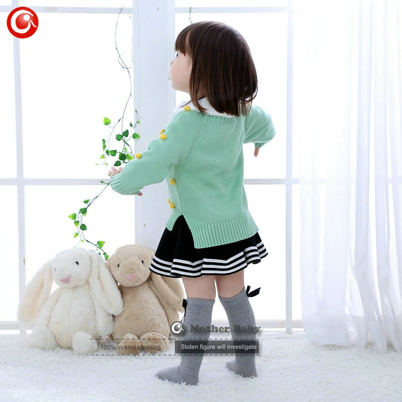 Kids Tinny Cotton Boys Sweater Children Pullover Cardigan Coat For Girls Baby Long Sleeve Knitwear Christmas Clothes With Balls (9)