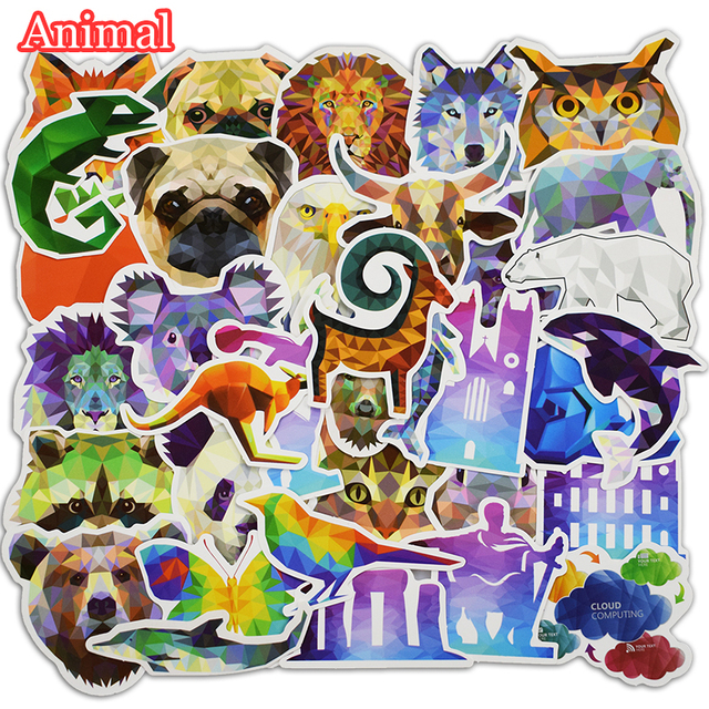 35 pcs galaxy animal stickers for laptop car phone luggage bike motorcycle mixed cartoon vinyl decals