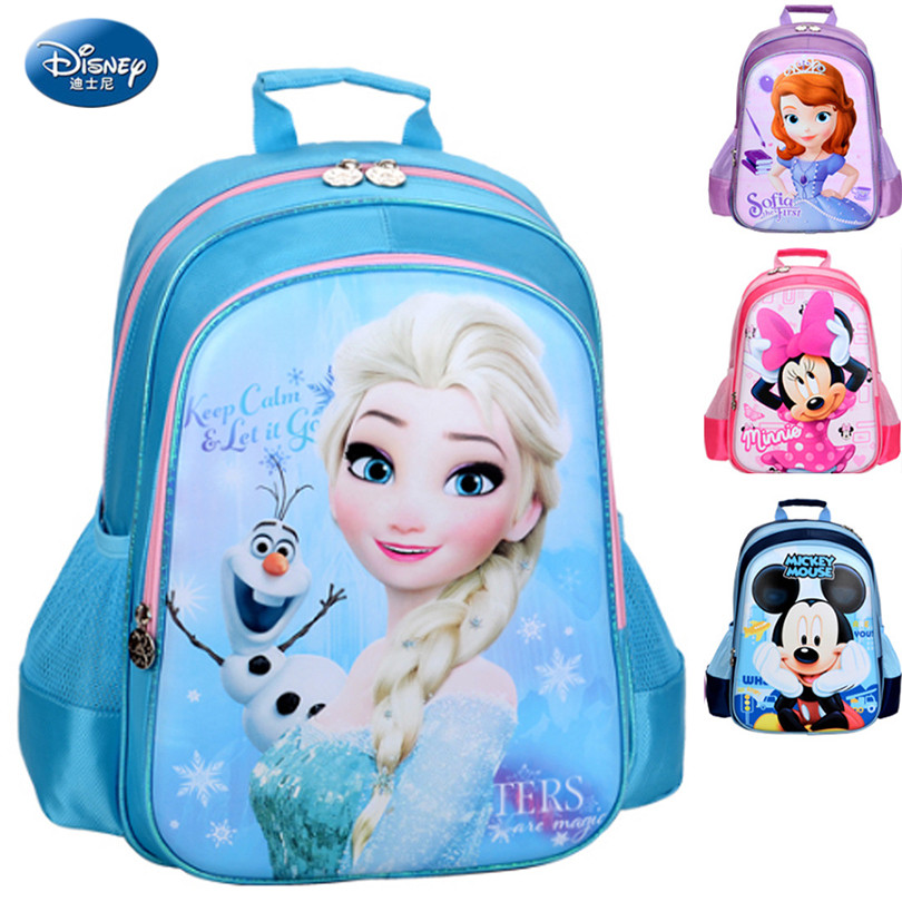 0b1f4b83c818 Disney 2018 Frozen Princess SchoolBags Protect the Spine Backpack Schoolbag  Kids Backpack Ultralight School Bags for Girls -in School Bags from Luggage  ...