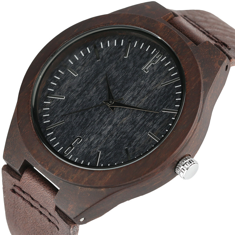 2017 Creative Carbon Black Face Wooden Watches for Men Women Gifts Handmade Bamboo Wristwatches Fashion Sport Quartz Watch Male simple watches men leather fashion male casual wooden women quartz watch natural handmade bamboo wristwatches clock 2017 analog
