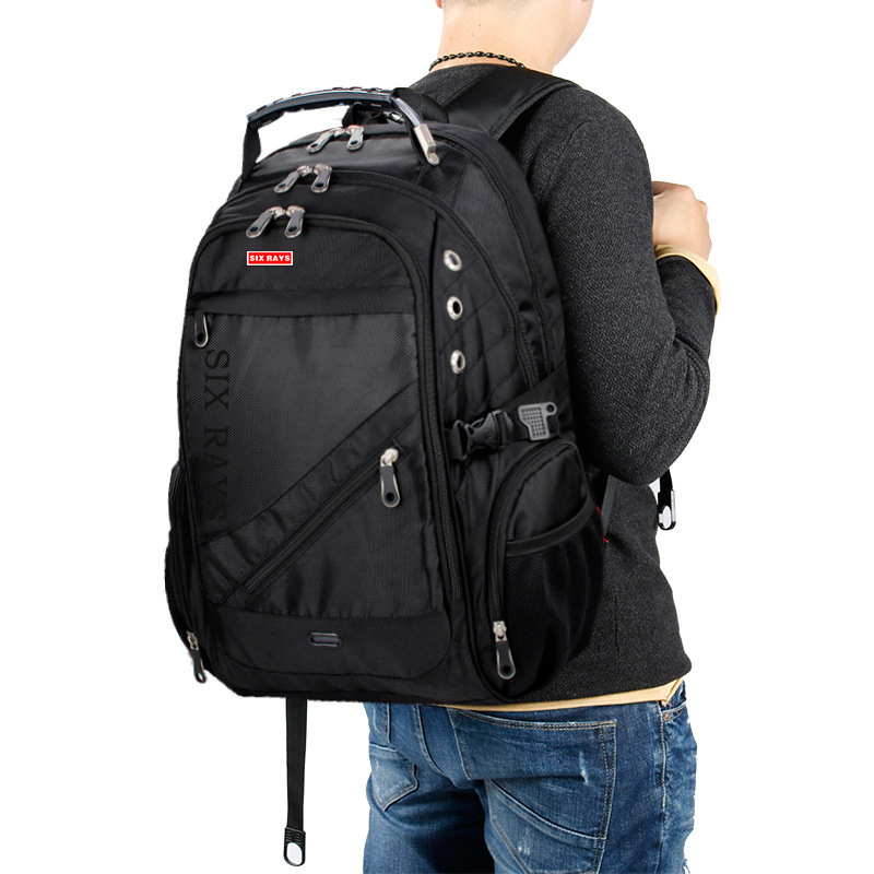 Image 1 - 2020 Hot Sale Mens Travel Bag Man Swiss Backpack Polyester Bags 