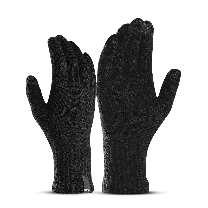 LESOV Woolen Touch Screen Gloves for Men with Highly Sensitive Conductive Fiber on Thumb and Index Finger Works with All Touch Screen Device 12
