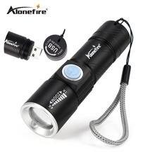 Aonefire x200 3 modo de linterna táctica de la antorcha mini zoom de gran alcance recargable usb led linterna lanterna ca para viajes al aire libre