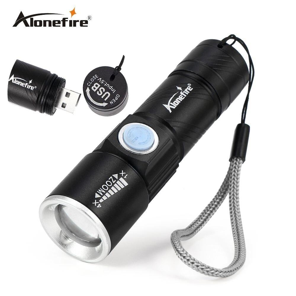 Aonefire x200 3 modus taktische blitzlicht taschenlampe mini zoom wiederaufladbare leistungsstarke usb led taschenlampe ac lanterna für outdoor-reisen