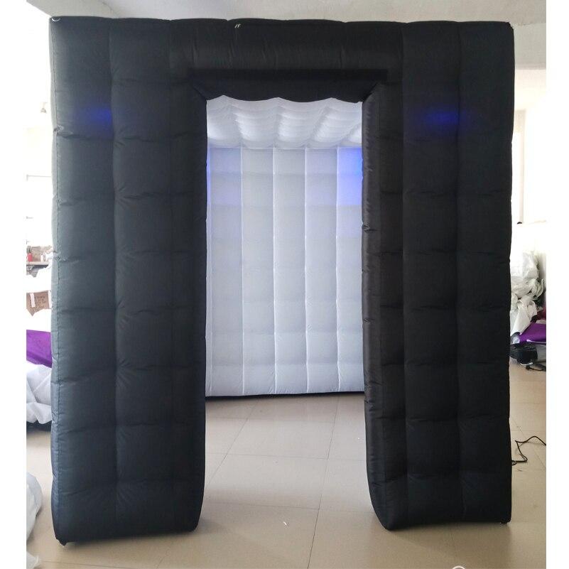 2 Black booth