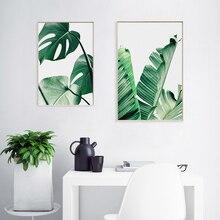 Natuur Groene planten Scandinavische posters en prints Muurkunst Canvas schilderij Foto kinderkamer Woondecoratie Muur zonder lijst