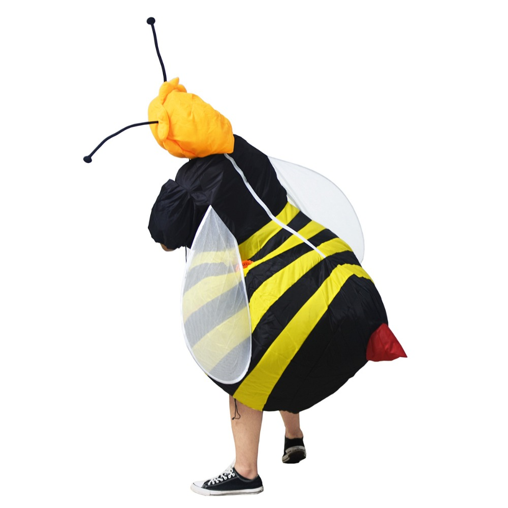 Inflatable Bumble Bee Costume for Adults Halloween Carnival Cosplay Party Dress