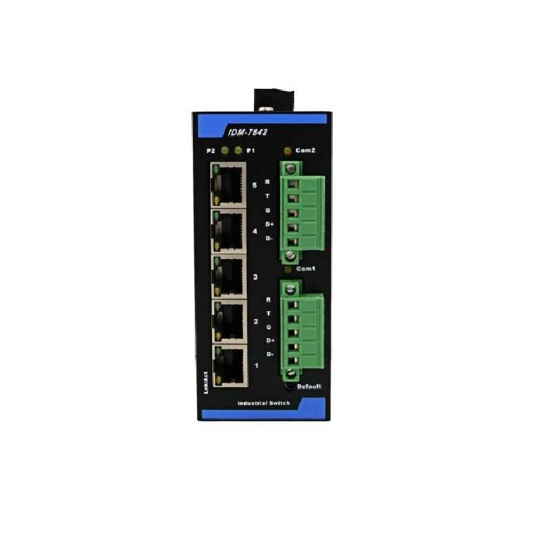 Modbus Gateway Server Double Serial Port Mobus RTU go to Mobus TCP 5Eth Photoelectric Isolation