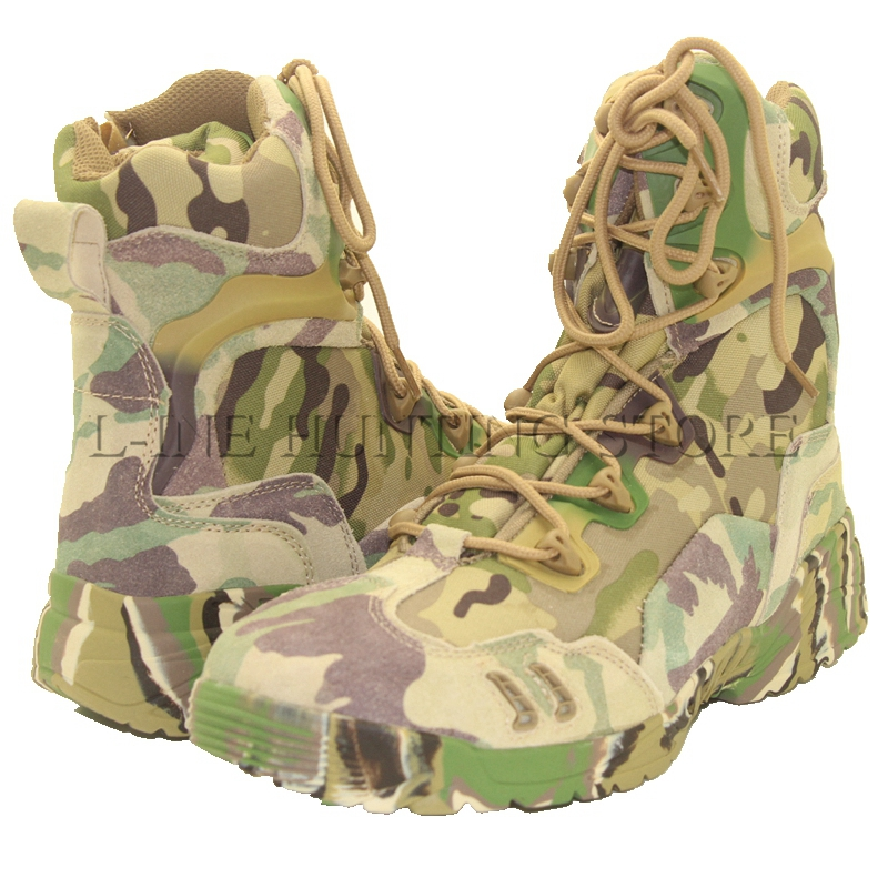 Multicam Outdoor Camping Climbing Camping Fishing Boots Tactical Hunting Combat Men Shoes Boots EUR Size 39 40 41 42 43 44 45 new outdoor hiking boots special forces tactical boots men s desert combat boots size 39 40 41 42 43 44 45