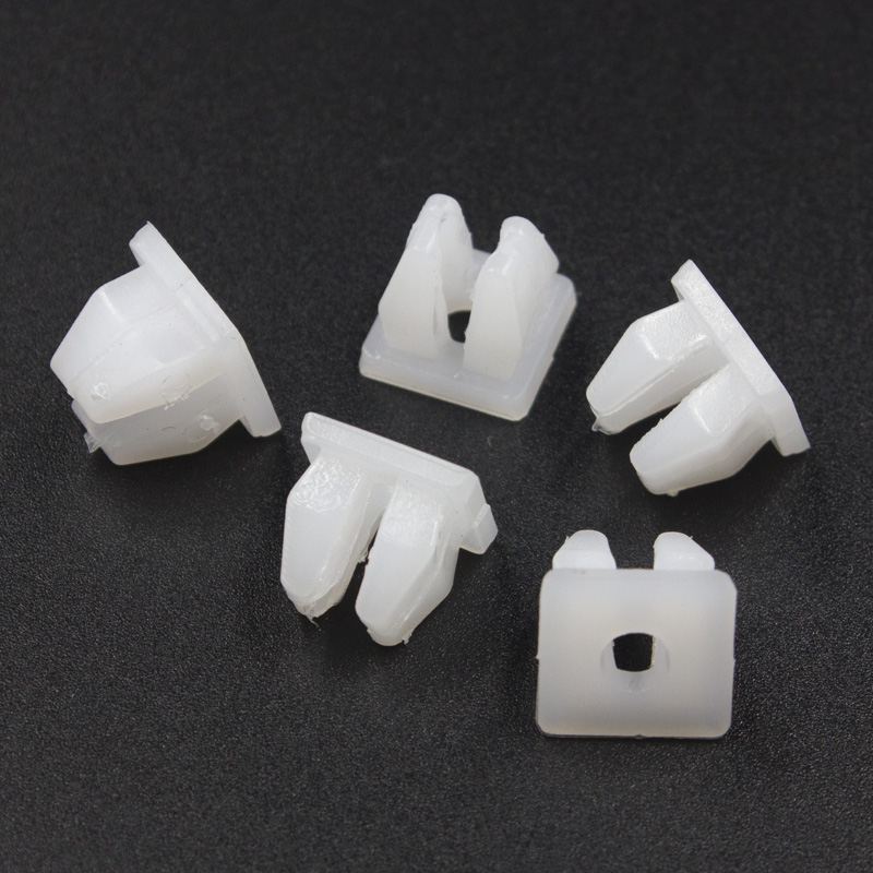 KE LI MI Square Head nut grommet molding clips plastic white retainer fixed car trim accessories mounting snaps in Auto Fastener Clip from Automobiles Motorcycles