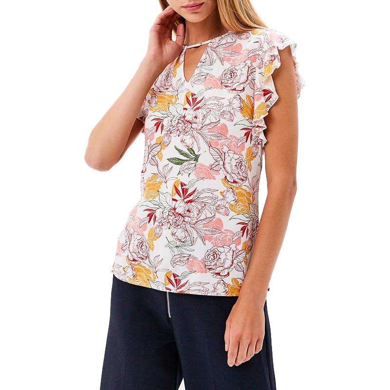 Blouses & Shirts MODIS M181W00625 woman blouse shirt blusas for female TmallFS женская футболка waqia 2015 t cueca blusas femininas 4