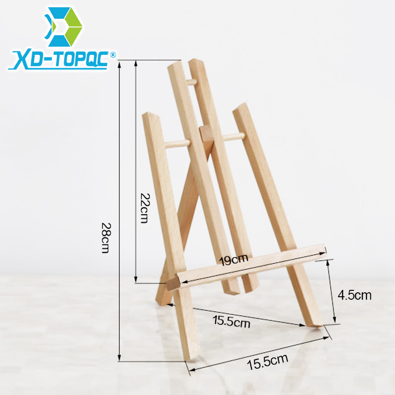 XINDI Pine Wood Easel 3 Sizes Tabletop Drawing Artist Wooden Fold Standing Easels Painting Whiteboard Chalk board Easels WE05 2