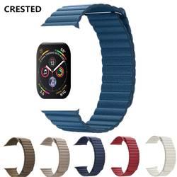 Кожа петля для Apple Watch группа 44 мм/40 мм на iWatch серии 4/3/2/1 42 мм/38 мм Магнитная застежка запястье браслет ремень