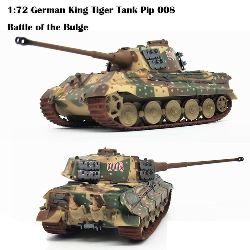 1:72 German King Tiger Tank Pip 008  Battle Of The Bulge  Collection Model  Trumpet