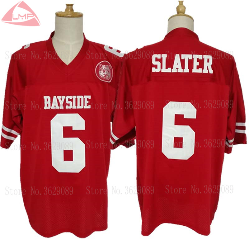 American Football Jersey  6 AC Slater Maroon Saved By The Bell Stitched  Shirts-in America Football Jerseys from Sports   Entertainment on  Aliexpress.com ... 1ff9f0538395
