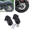 Black Rear Axle Cover Kit For 2005-2015 Harley Davidson Sportster XL883 XL1200