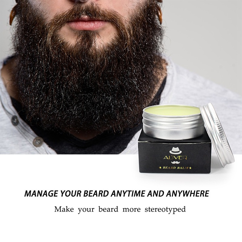 Beard Balm, Strengthens & Thickens for Healthier Beard Growth, while Argan Oil and Wax Boost Shine and Maintain Hold 1