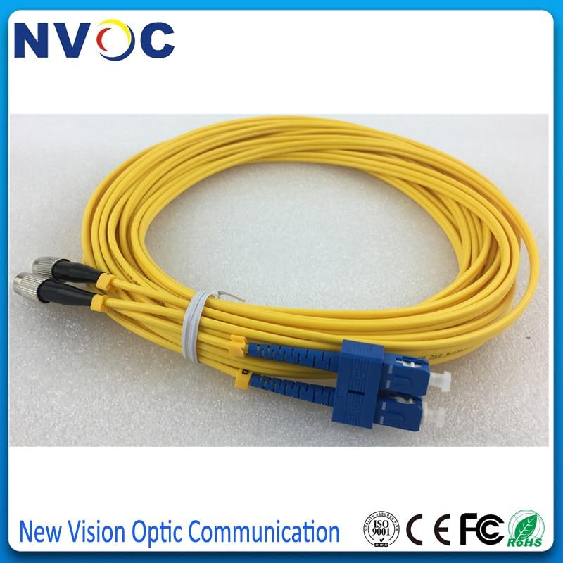 FC to FC,Duplex,SingleMode,Optical Fiber Cable Patch Cord Jumper FC//PC-FC//PC 3M