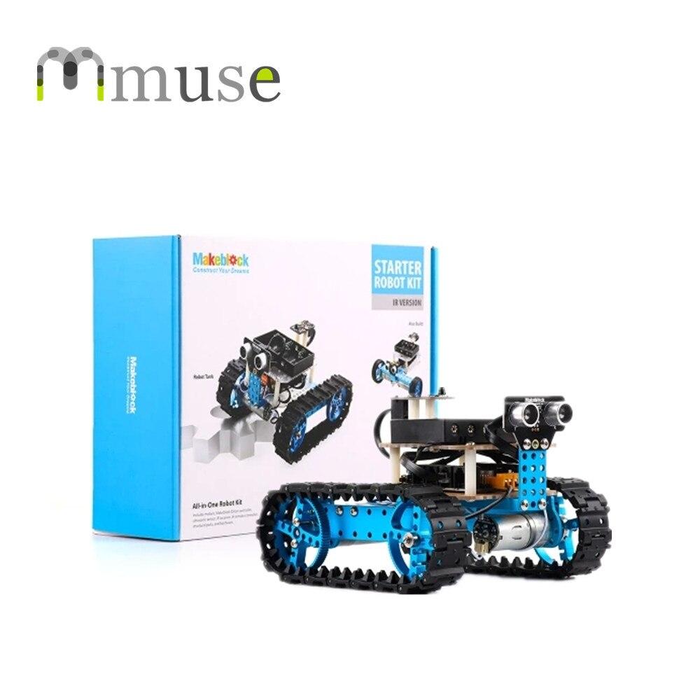 Christmas Gift Easy Programming Infrared Control 3D Printer Robots Makeblock Starter Robot Kit робоконструктор ultimate robot kit makeblock
