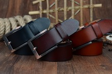 Men's Top Quality Genuine Leather Pin Buckle Belt. Available Colors – Black, Brown And Coffee