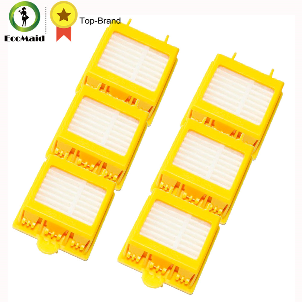 Yellow Filters For iRobot Roomba Vacuuming Robots Parts Replacement Cleaning Tool- Roomba 700 Series 760 770 780 790 bristle brush flexible beater brush fit for irobot roomba 500 600 700 series 550 650 660 760 770 780 790 vacuum cleaner parts