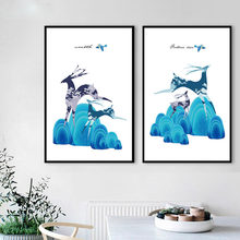 Clouds mountain animal Nursery Kids Room quality Home Decor Art Decor room living posters canvas painting No Frame E99(China)