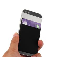 1PC Fashion ID karta kredytowa posiadacz Solid telefon komórkowy karta portfel elastyczny telefon komórkowy samoprzylepna naklejka Lycra akcesoria tanie tanio Posiadacze kart IDENTYFIKATOROWYCH Unisex Poduszkę 5 8 cm Z ISKYBOB Bez zamków błyskawicznych Moda Posiadacz karty telefonicznej