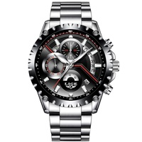 2018 Fashion New LIGE Mens Watch Stainless Steel Business Watches Men Date Chronograph Quartz Watch Male