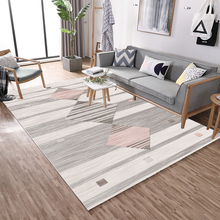 Nordic rustic style striped carpet rectangular bedroom living room home non-slip soft mat