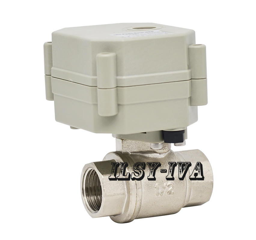 G1/2 AC/DC9~24V Stainless steel Electronic Valve,DN15 Motorized ball valve with indicator for water cwx 25s stainless steel motorized ball valve 1 2 dn15 water control angle valve dc9 24v 2 way wires cr 04