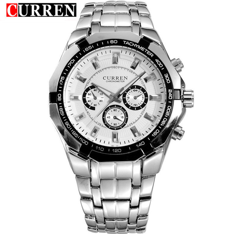 Curren 8084 Mens Watches Top Brand Luxury Stainless Steel Quartz Watch Men Casual Sport Clock Male Wristwatch Relogio Masculino luxury watch men wwoor top brand stainless steel analog quartz watch casual famous brand mens watches clock relogio masculino