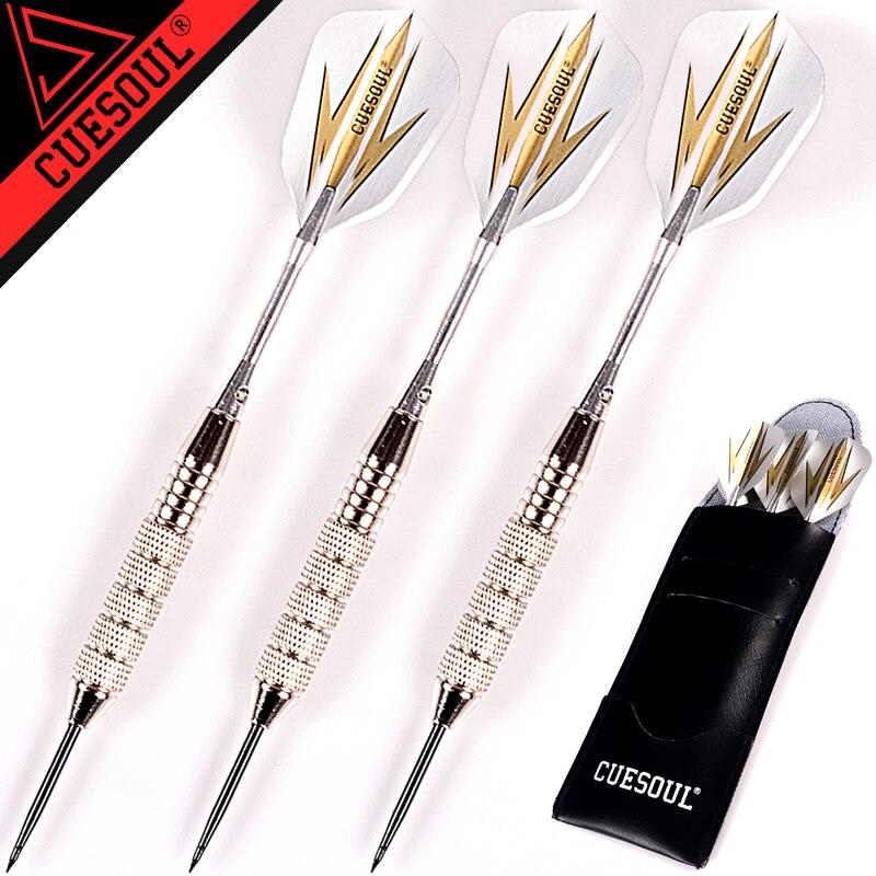 Nuovo CUESOUL 3 pz/set Freccette Professionale 24g 25g Nero Colore Dorato Acciaio Punta Freccette Con Freccette Alberi In Alluminio