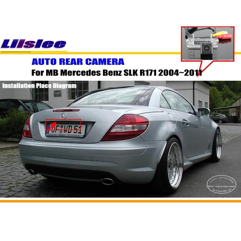 Liislee For Mercedes Benz SLK R171 2004~2011 - RearView Camera / Backup Parking Camera /  NTST PAL / License Plate Lamp OEM